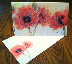 Papyrus Card with Poppies